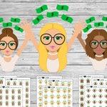 PAY DAY Money Girls Planner Stickers - Blonde Brunette Dark Skin fair shopping spending erin condren happy planner plum paper recollections