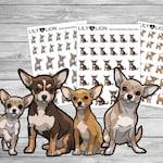 Chihuahua Planner Stickers - dog breed pet care animals - Bujo Erin condren Happy planner Plum Paper