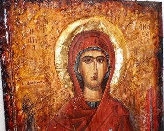 14kt Gold St Patron Saint Martyrs//Widows 1//2 x 1//4 Anastasia Medal