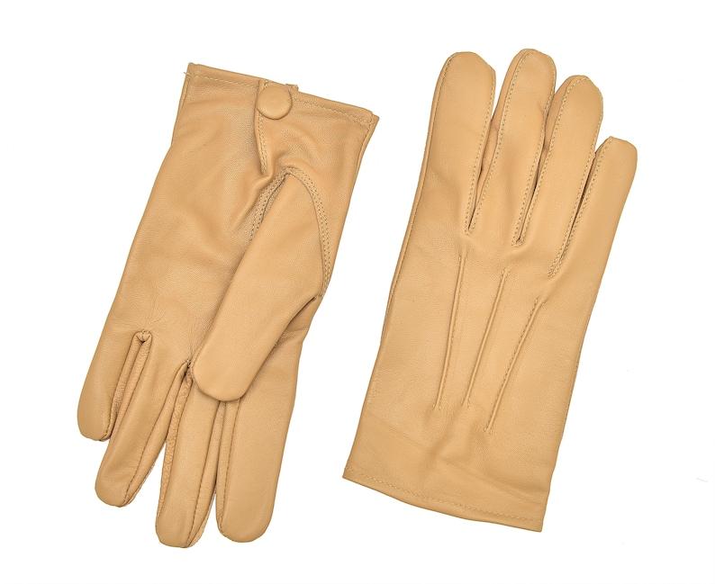 Men/'s Black Leather Dress Gloves Formal-Victorian//Mourning-Steampunk-Medieval