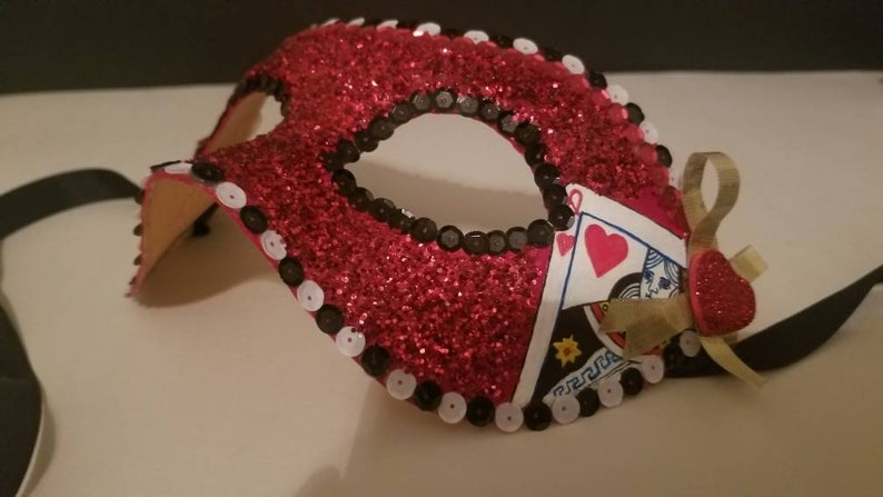 Made To Order Queen of Hearts Mask