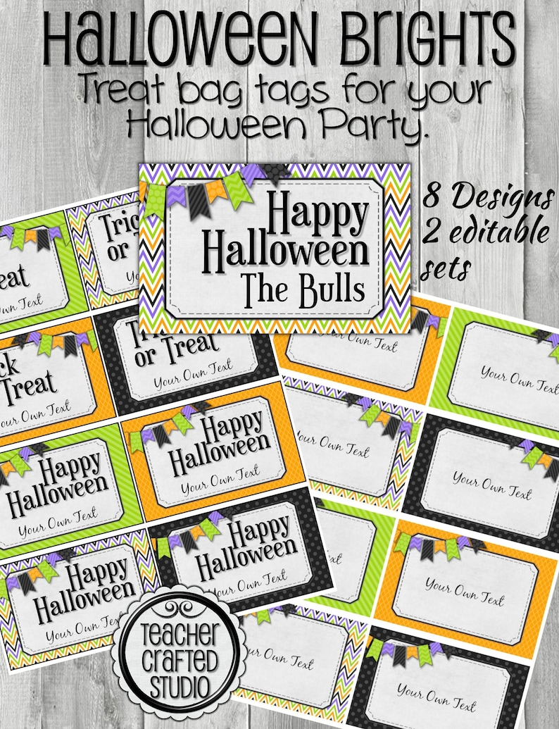 image about Printable Halloween Gift Tags named Printable Halloween Take care of Tags - Halloween trainer tags - Halloween get together Tags - Editable address tags