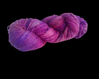 Mulberry Silk Roving Yarn in shades of Purple Hand Tie & Die Yarn | 325 yards carded pure silk