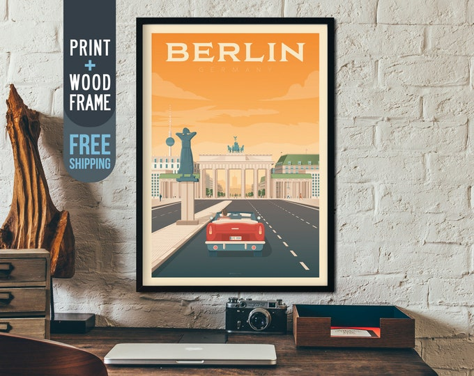 Berlin Germany Vintage Travel Poster, Berlin Germany  framed poster, Berlin Germany wall art, Berlin Germany home wall decoration, gift idea