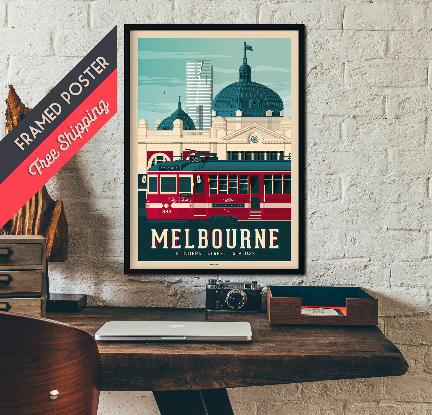 melbourne australia vintage travel poster framed poster wall art