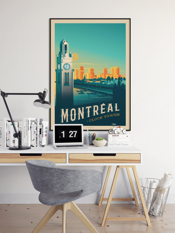 Montréal Canada Print - Montréal Canada Vintage Travel Poster ...