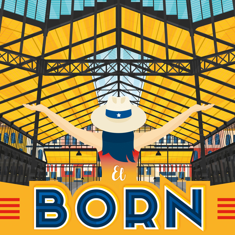 Barcelona - El Born Spain - Vintage Travel Poster, framed poster ...