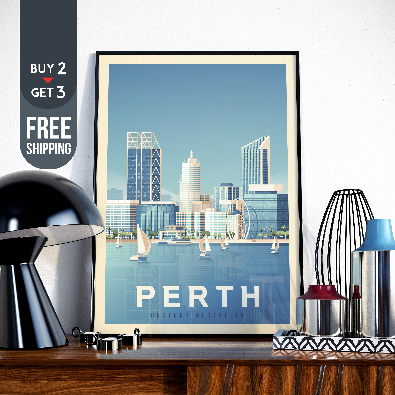 Wall art. old Travel advertising Reproduction poster Sydney Australia