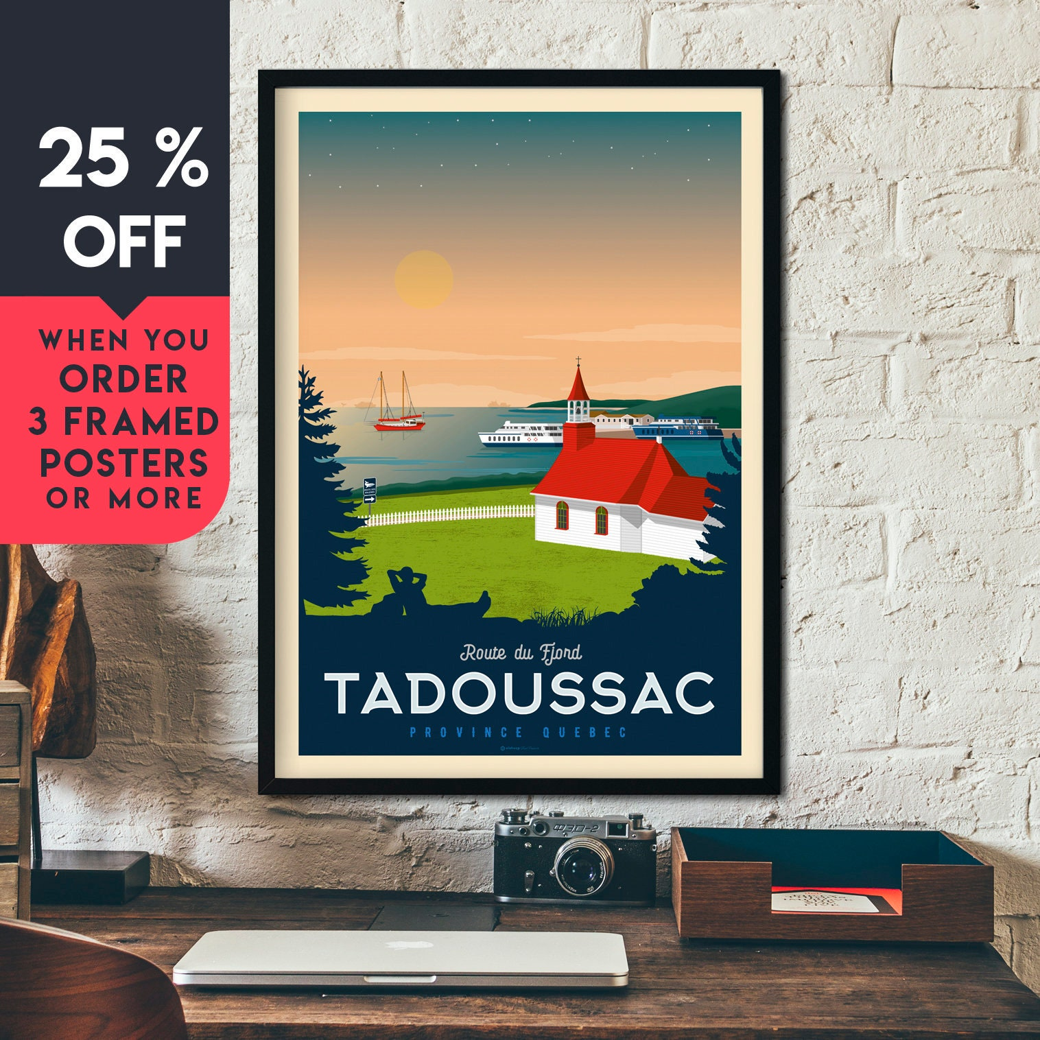 Canadian Pacific ships Vintage painting art Travel Poster Print For Glass Frame