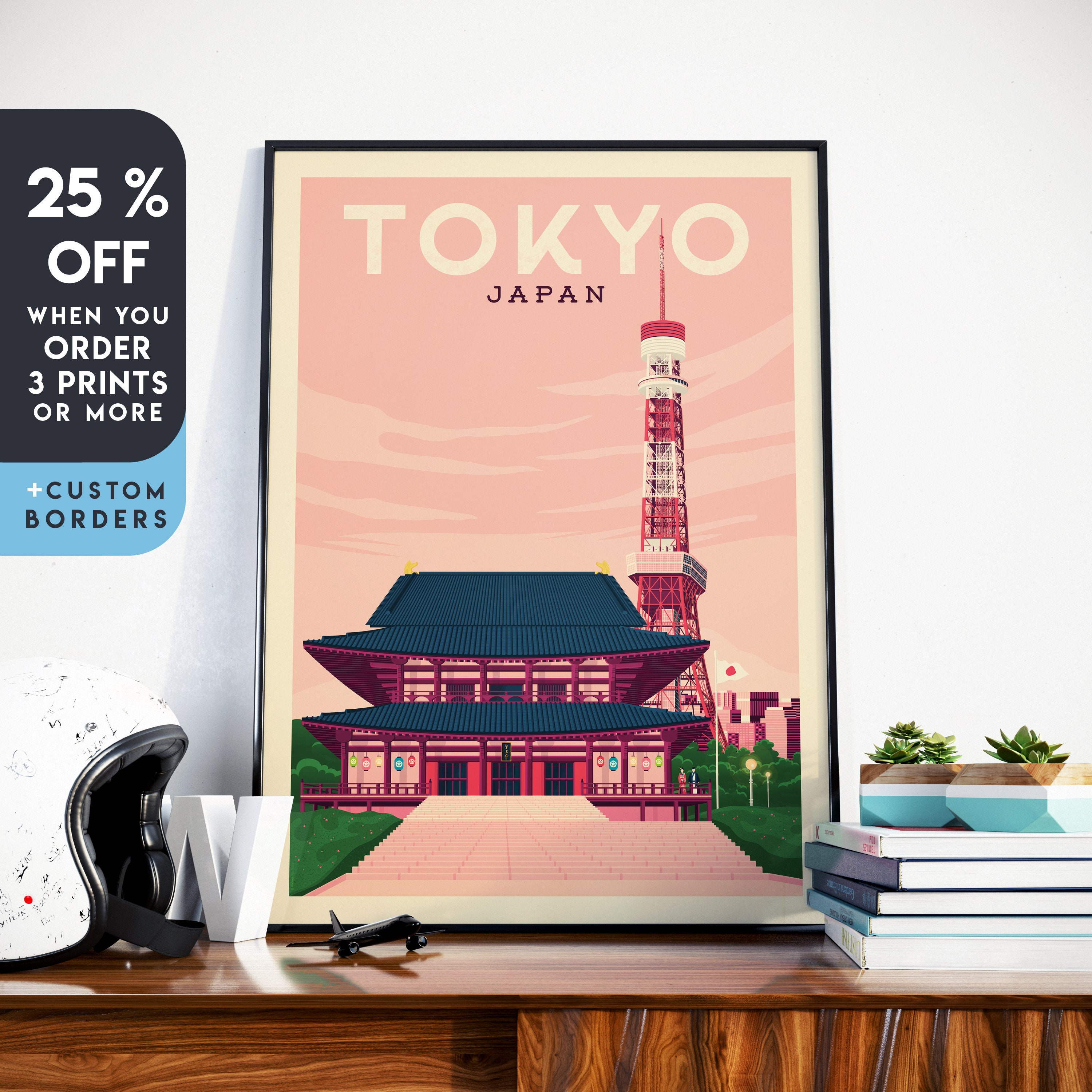VINTAGE JAPANESE TOURISM JAPAN VACATION TRAVEL AD POSTER ART REAL CANVAS PRINT