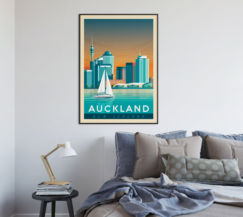 Auckland New-Zealand Print