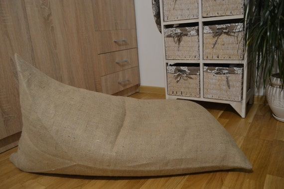 Surprising Burlap Pouf With Coffee Smell Floor Cushion Poof Bean Bag Chair Footstool Rustic Pouf Coffee Bag Coffee Sack Cafe Chair Andrewgaddart Wooden Chair Designs For Living Room Andrewgaddartcom
