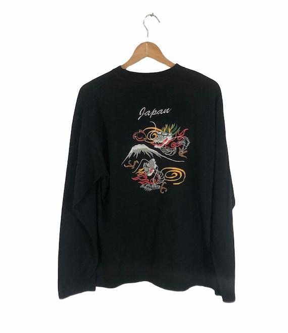 Sukajan T-Shirt Dragon Embroidered