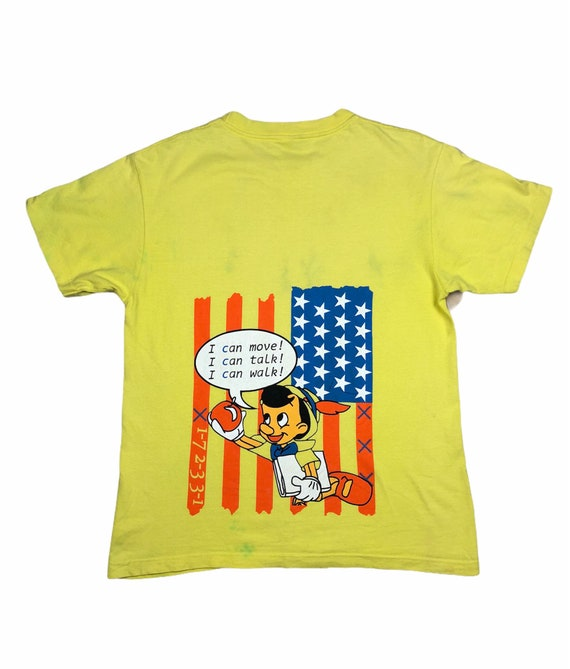 Pinocchio Cartoon USA Flag T-Shirt
