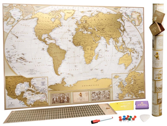 XXL 35x25 Scratch World map Scrath off map Push Pin Travel Map Gold on usa travel map, starlight theatre kansas city parking map, scratch map us, diy scratch-off map, metallic scratch-off map, earth sandwich map, usa scratch map, scratch map frame, scratch travel map, scratch people, scratch map luckies of london, wall size scratch map, displaying a scratch map,