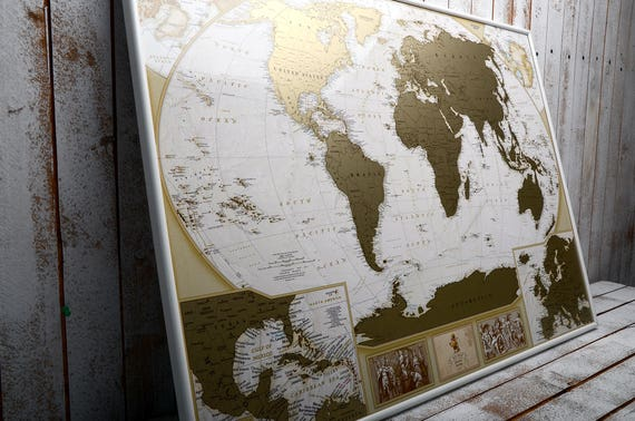 Mymap antique map framed personalized scratch off map world gumiabroncs Image collections