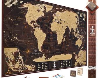 Scratch World Map, Scratch Off Map, Scratch Off, Travel Map World, Map Poster, World Map Of The World,  Scratch World Map, scratch off