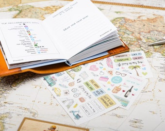 Scratch off map etsy personalized leather travel book journal journal for travelers leather cover sketchbook with scratch off world map travel gift gumiabroncs Image collections