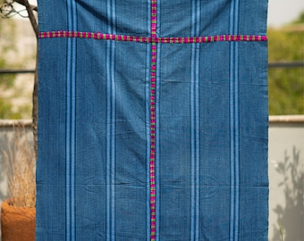 Blue corte textile from Guatemala