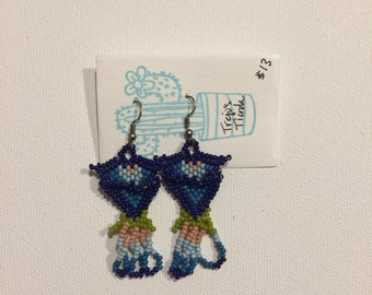 Huichol beaded earrings