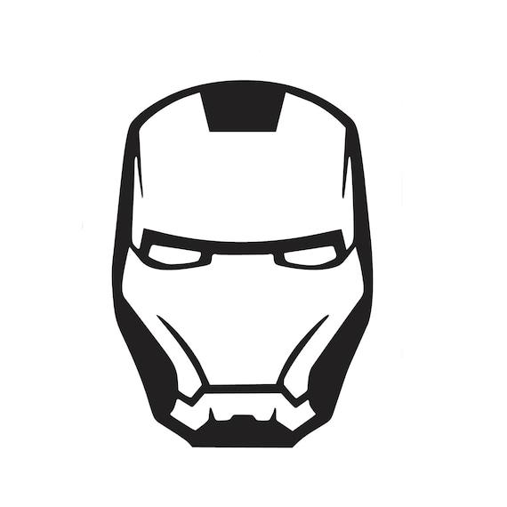 Iron Man Mask Vinyl Decal Etsy
