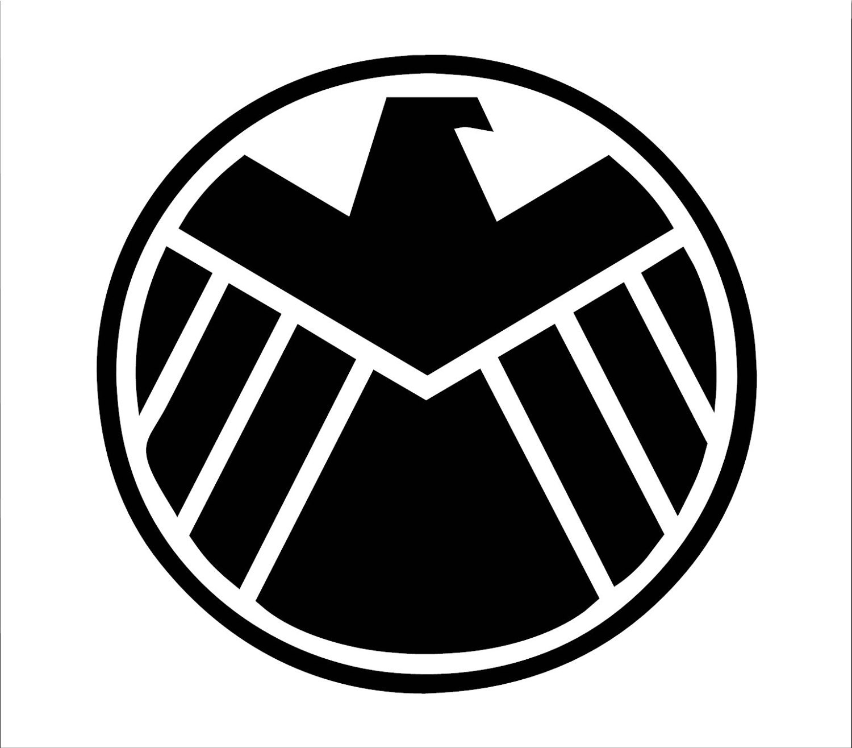 Agents of Shield Symbol Vinyl Decal | Etsy