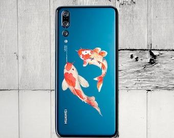 Huawei p smart, koi fish, Mate 10 case, P10 case, P9 case, Honor 8 case, Y6 Pro case, Y7 case, honor 10, honor 7a, Enjoy 8s case, Nexus 6P