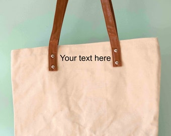 3d5e11924461 Custom Canvas Tote Bag with Zipper and Additional pocket