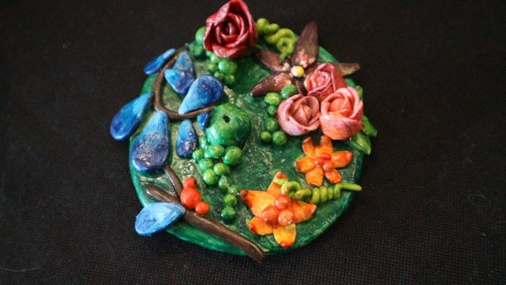 Mini floral diorama - incense holder
