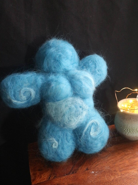 Sea Foam - plush felt goddess - body positive feminist symbol and lucky charm
