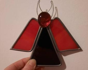 Handmade stained glass devil!