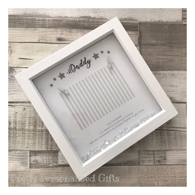 Christmas fathers gift from the bump poem 3d box frame photo | Etsy