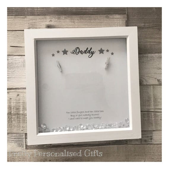 Blue Pack of 2 Newborn Announcement Card Frames Baby Arrival Keepsake Picture Frame Baby Scan Photo Frame Picture Frame Baby Announcement Card Greeting Card Baby Keepsake Baby Picture Frame