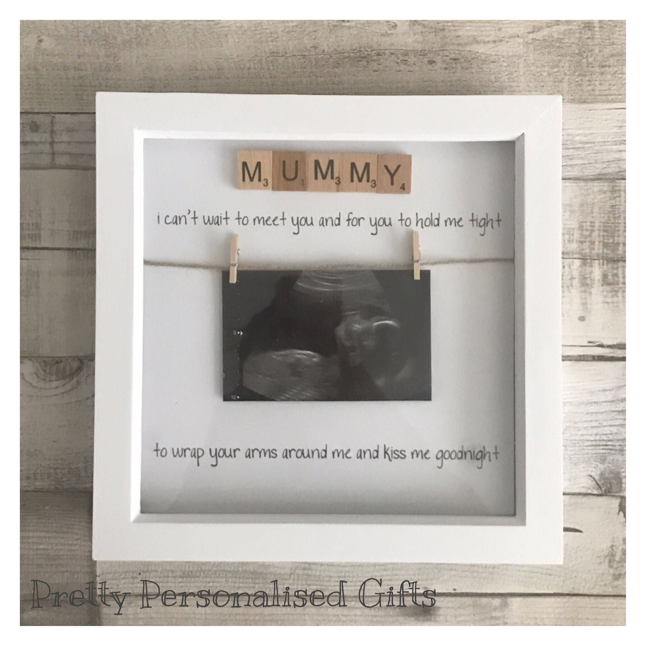 Mummy daddy poem gift frame from bump scan frame scrabble words 3d ...