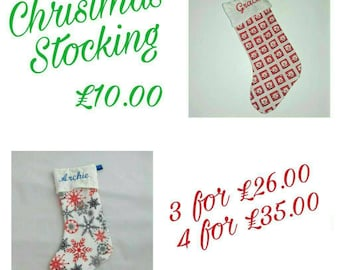 SPECIAL OFFER-multiple purchase offer on personalised Christmas stockings