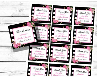 PRINTABLE-Bridal Shower Favor Tags-Brunch and Bubbly Favor Tags-Thank You Tags