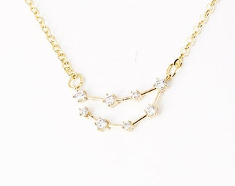 Capricorn Constellation Zodiac Necklace (Dec 23-Jan 20)