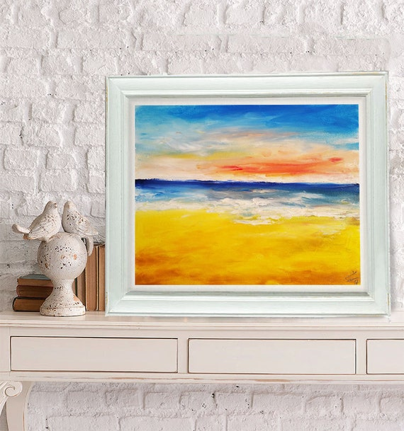 warme farben malerei, warme farben sonnenuntergang Ölmalerei orange und gelb | etsy, Innenarchitektur