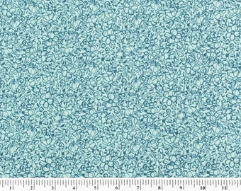 Davina Floral PINK GREEN TURQUOISE by the Half Yard