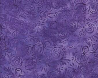 Island Batik Dandelion Jelly Purple Batik Fabric - Purple Grape Batik Blender Fabric - By the Yard