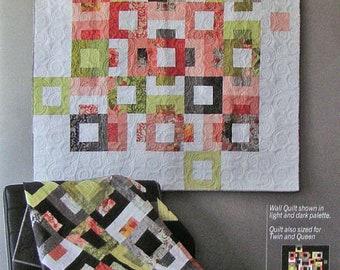 Blockstep Quilt Pattern - Robin Pickens #RPQP-BS104 - Jelly Roll Quilt Pattern - Fat Quarter Friendly Quilt Pattern - Modern Quilt Pattern
