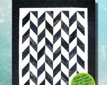 Strip Tube Herringbone Quilt Pattern - A Strip Club Pattern - Cozy Quilt Designs - Jelly Roll Quilt Pattern, Strip Tube Ruler Pattern