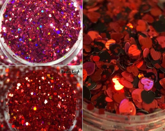 Valentine's Day - Chunky Glitter Trio