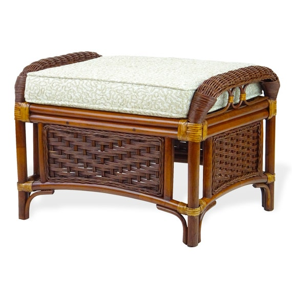 Natural Rattan Wicker Handmade Square Small Coffee Table w//Glass Top 5 Colors
