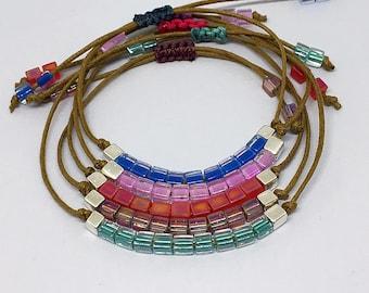 Minimalist Delicate Bracelet, Friendship Yoga Bracelet, Dainty Friendship Bracelets, Simple Stacking Bracelet, Tiny Cord Summer Bracelets