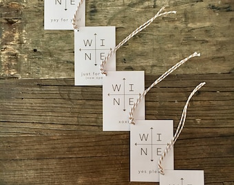 Arrows Just Because . Wine Tags . FREE SHIPPING