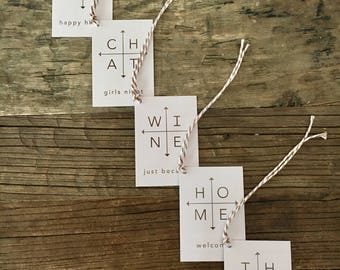 Arrows Gifts . Wine Tags . FREE SHIPPING . Special Occasion Gift