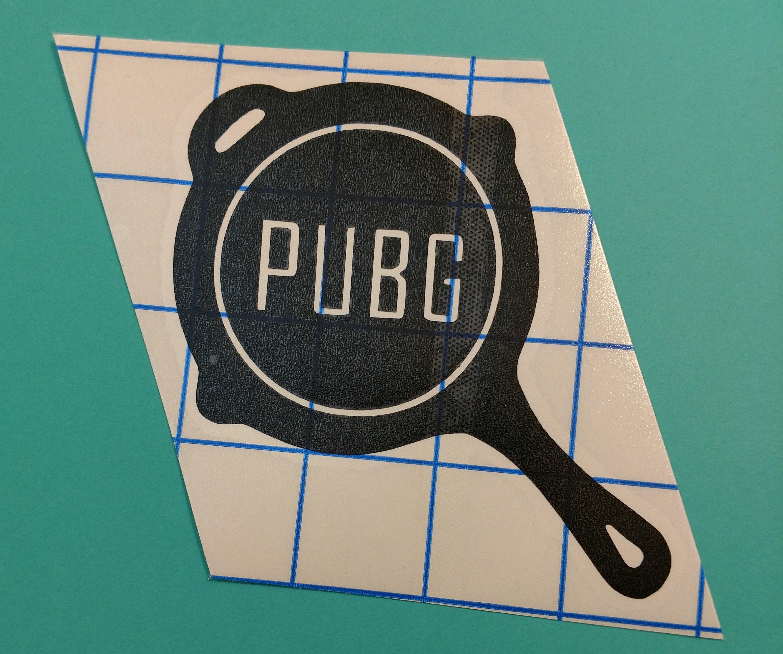 Pubg Cast Iron Frying Pan Logo Vinyl Decal Playerunknown S Battlegrounds