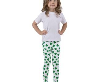 Irish Four Leaf Clover Shamrock St Patricks Day Kid's leggings