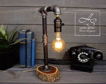 Simplicity - Edison Industrial Pipe Lamp- Vintage Modern Home and Office Lighting